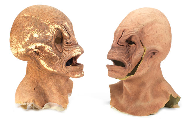 Torchwood Series 1-3: A pair of prosthetic 'Weevil' masks,  2006 - 2009,  2