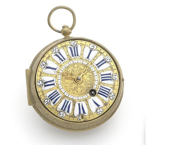 Paris. An early 18th century gilt metal Oignon pocket watch Circa 1710