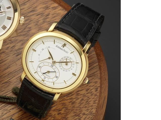 Audemars Piguet. An 18ct gold automatic dual time wristwatch Millenary Dual Time, D73831, Circa 2000