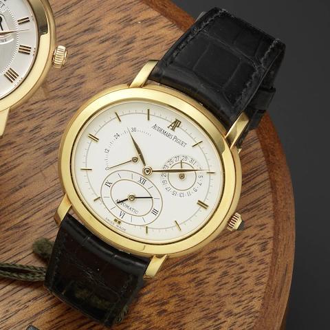 Audemars Piguet. An 18ct gold automatic dual time wristwatch Millenary Dual Time, D73831, Circa 2000