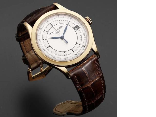 Patek Philippe. An 18ct white gold automatic calendar wristwatch Ref:5296, Case No.4360667, Movement No.3618008, Sold 16th October 2006