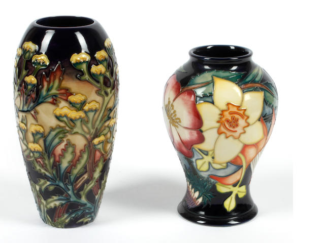 Two contemporary Moorcroft vases