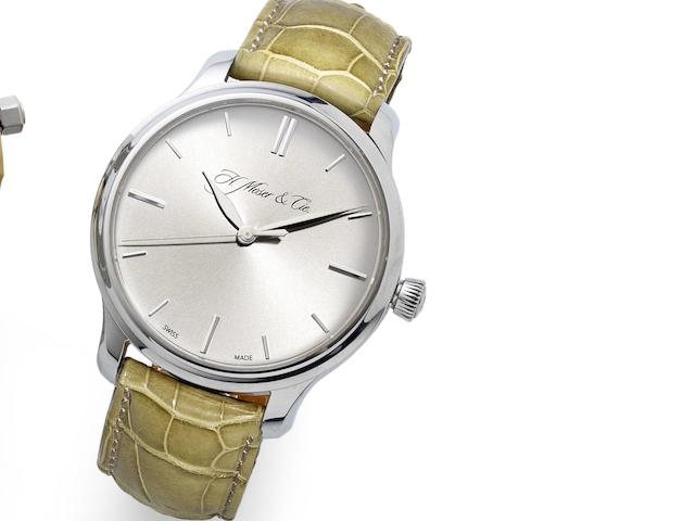 H. Moser & Co. A fine 18ct white gold manual wind wristwatch Monard, Ref:343.505-0.12, No.200, Case No.101539, Recent