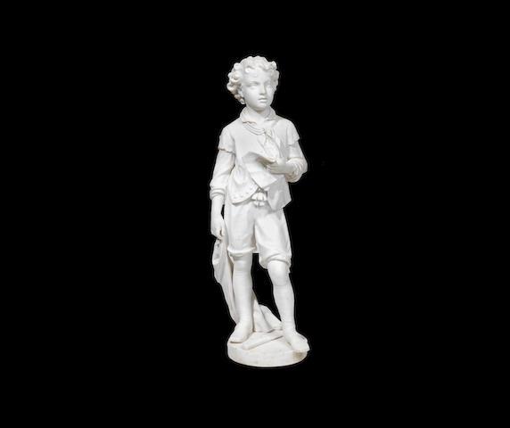 Pietro Bazzanti, Italian (1842-1881): A sculpted marble genre figure of a young butcher boy