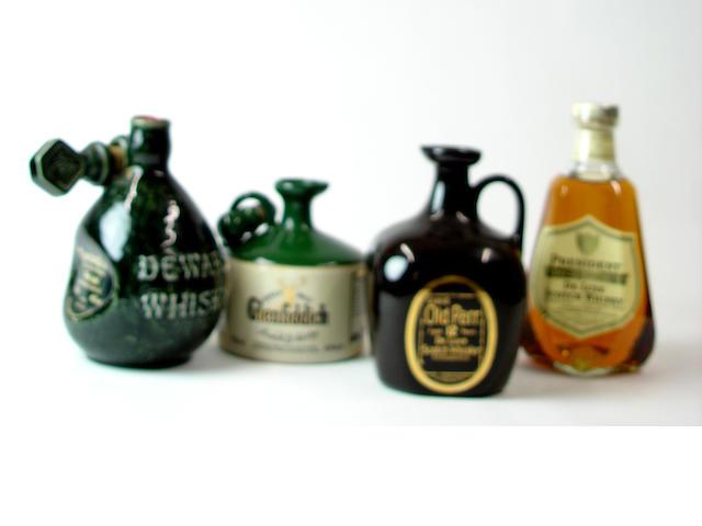 Dewar's White Label Centennial FlagonGlenfiddichGrand Old Parr-12 year oldPresident Special ReserveBell's