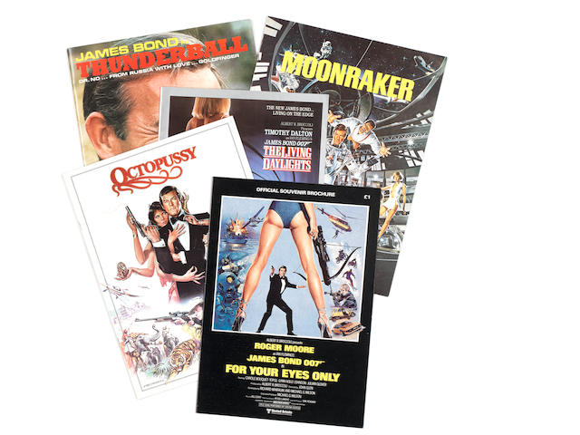 James Bond: Five press books and souvenir programmes,