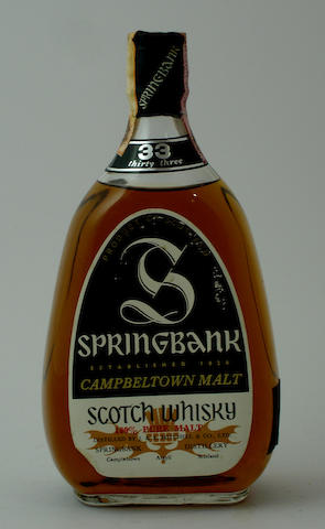 Springbank-33 year old