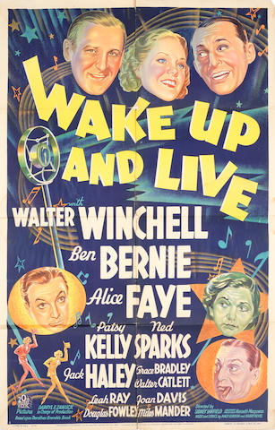 Wake Up & Live, 20th Century Fox, 1937,