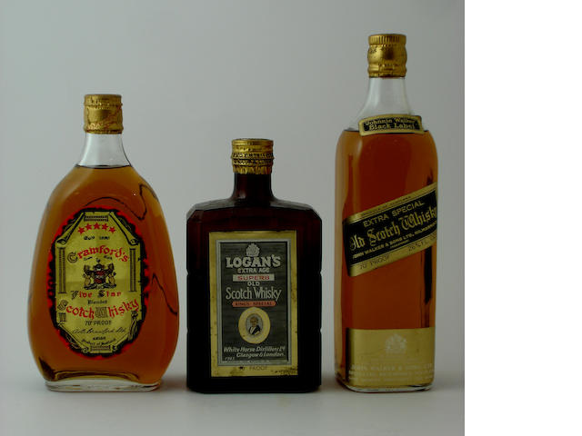 Crawford's Five StarLogan's Extra AgeJohnnie Walker Black Label
