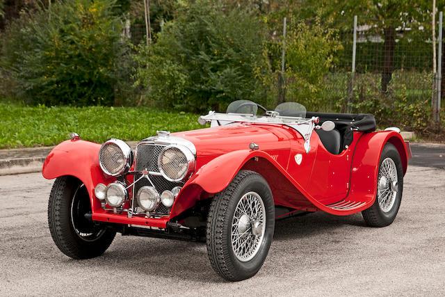 Numéros concordants,1938 Jaguar SS100 3½-Litre roadster