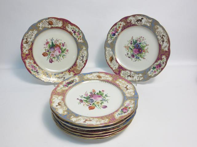 A set of eight dessert plates Probably Russian, circa 1900