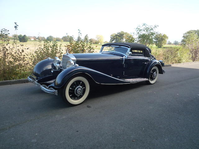 Delivered new to Henri Garat, in the same private ownership since 1969,1935 Mercedes-Benz 500K Cabriolet A
