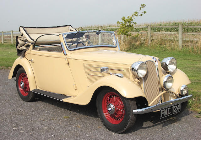 1937 Frazer Nash-BMW Type 319/2 Cabriolet  Chassis no. 54159 Engine no. 54159
