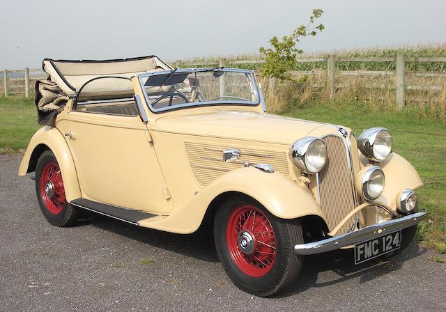 1937 Frazer Nash-BMW Type 319/2 Cabriolet  Chassis no. 54159 Engine no. 54159