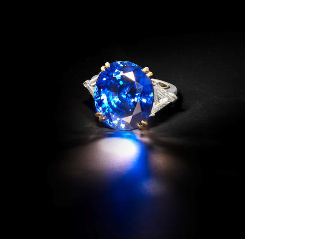 An impressive sapphire and diamond ring, by Boucheron