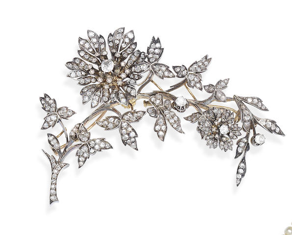 A diamond corsage ornament,