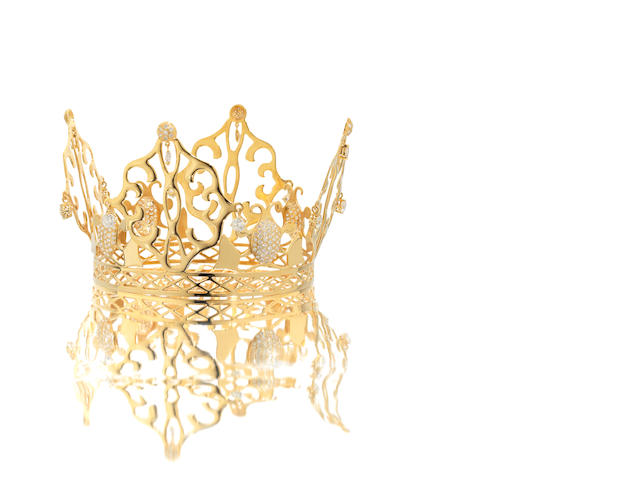 A gold and diamond 'East of Paris' regal coronet, worn by Victoria Beckham on her wedding day, by Slim Barrett,