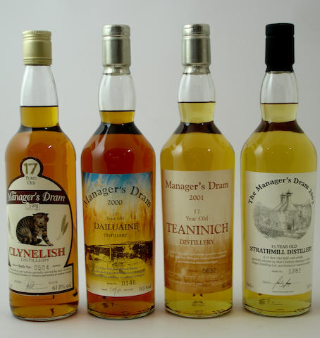 Clynelish-17 year oldDailuaine-17 year oldTeaninich-17 year oldStrathmill-15 year old