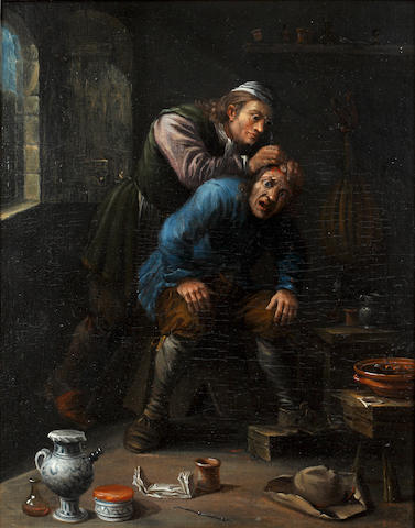 Dutch School, 18th Century Removing the Stone of Madness; and The Quack Doctor