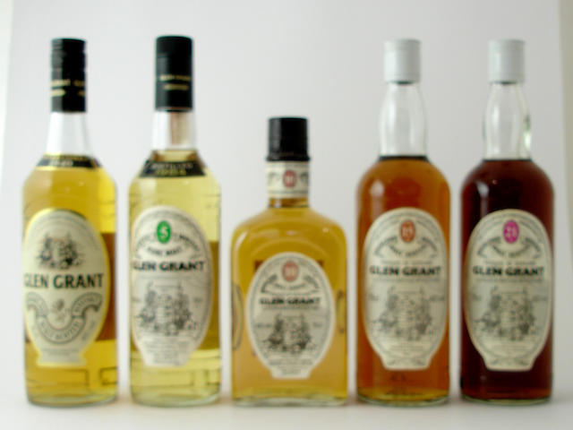 Glen Grant<BR /> Glen Grant-5 year old-1984<BR /> Glen Grant-10 year old<BR /> Glen Grant-15 year old<BR /> Glen Grant-21 year old