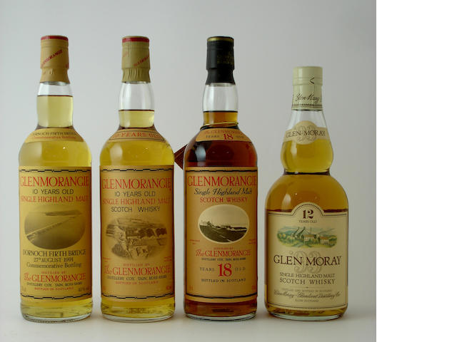 Glenmorangie Dornoch Firth-10 year old<BR /> Glenmorangie-10 year old<BR /> Glenmorangie-18 year old<BR /> Glen Moray-12 year old
