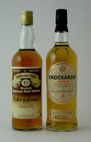 Edradour-13 year old-1973<BR /> Knockando-1974