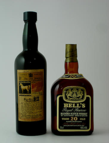 White Horse-Bottled 1942<BR /> Bell's Royal Reserve-20 year old