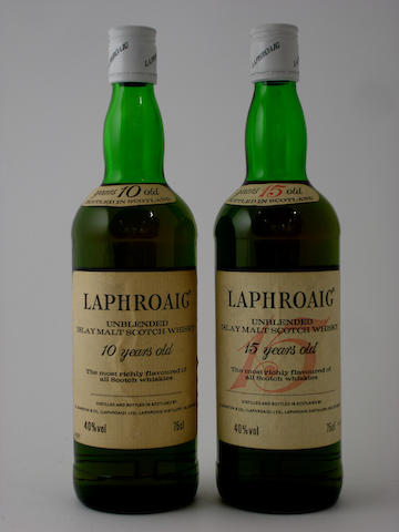 Laphroaig-10 year old<BR /> Laphroaig-15 year old