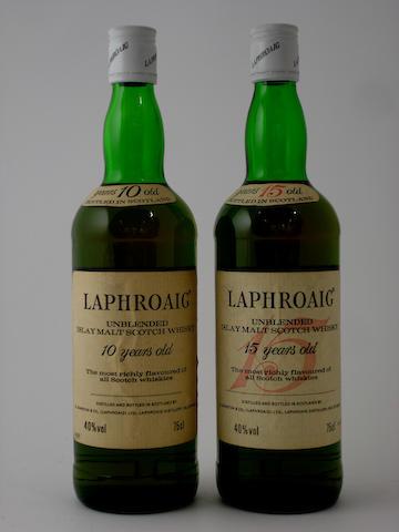 Laphroaig-10 year old<BR /> Laphroaig-15 year old