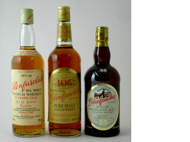 Glenfarclas-8 year old<BR /> Glenfarclas 105<BR /> Glenfarclas-25 year old
