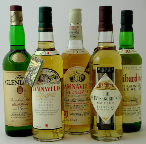 The Glenlivet-12 year old (2) Tamnavulin-Glenlivet-12 year old (4) Invergordon-10 year old (2) Tullibardine-10 year old