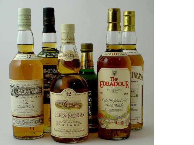 Mixed malts comprising (9):