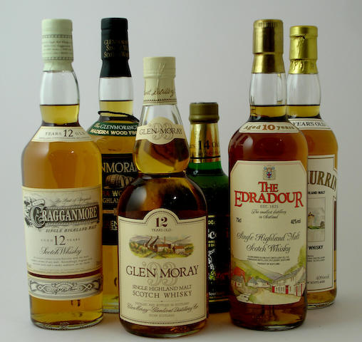 Mixed malts comprising (9):