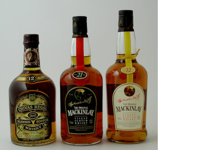 Chivas Regal-12 year old (7) The Original Mackinlay-21 year old (3) The Original Mackinlay-12 year old