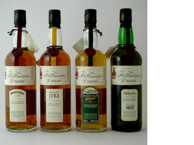 Bruichladdich-25 year oldIsle of Jura-25 year oldTamnavulin-Glenlivet-25 year oldTullibardine-25 year old