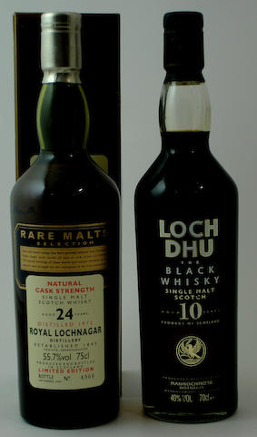Royal Lochnagar-24 year old-1972Loch Dhu-10 year old