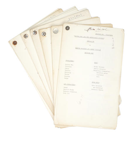 Doctor Who / Patrick Troughton: 'Doctor Who And The Abominable Snowmen',  a complete set of six Draft Scripts,   1967, 6