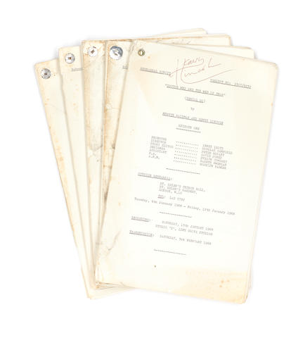 Doctor Who / Patrick Troughton: 'Doctor Who And The Web Of Fear', a set of five Rehearsal Scripts, 1968,  5