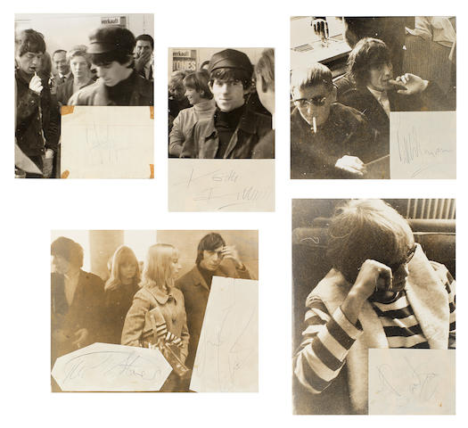 The Rolling Stones: A set of autographs, 1960s,