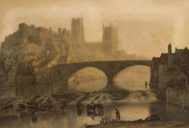 John Glover (British, 1767-1849) Durham Cathedral: Misty Morning
