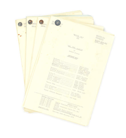 Doctor Who/ Jon Pertwee: 'The Time Warrior' - A set of four camera scripts,  1973, 4