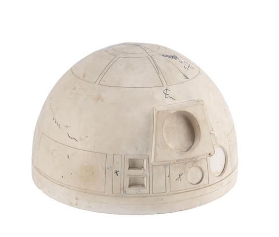 Star Wars- A New Hope: A pre-production study cast for the dome head of the first R2-D2 robot, circa 1976,