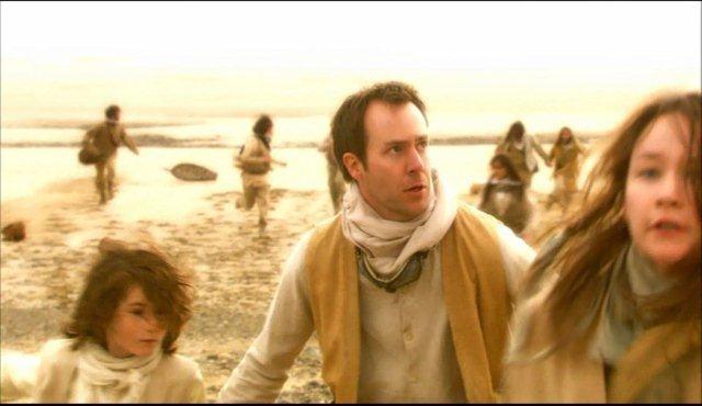 Torchwood, Series 2 - Episode 5 'Adam': Demetri Goritsas as Captain Jack's Father 'Franklin' and Ethan Brooke as Captain Jack's brother 'Gray', two part costumes,  2008,  9