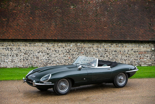 Only 7,200 miles from new,1961 Jaguar E-Type Series I 'Flat Floor' 3.8-Litre Roadster  Chassis no. 875103 Engine no. R1137-9