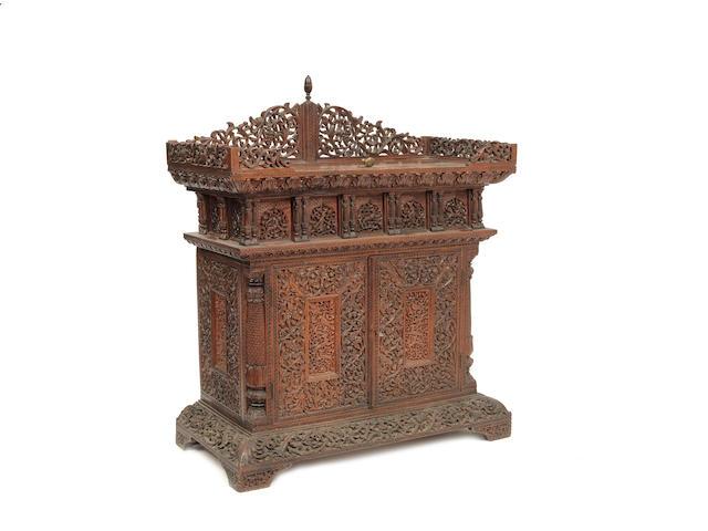 An Anglo Burmese 19th century padouk cabinet
