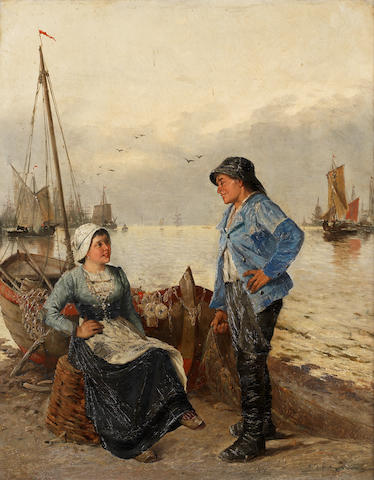 A. Kaufmann (Continental 19th century) Tales of the sea each 68.5 x 55 cm. (26 15/16 x 21 5/8 in.)