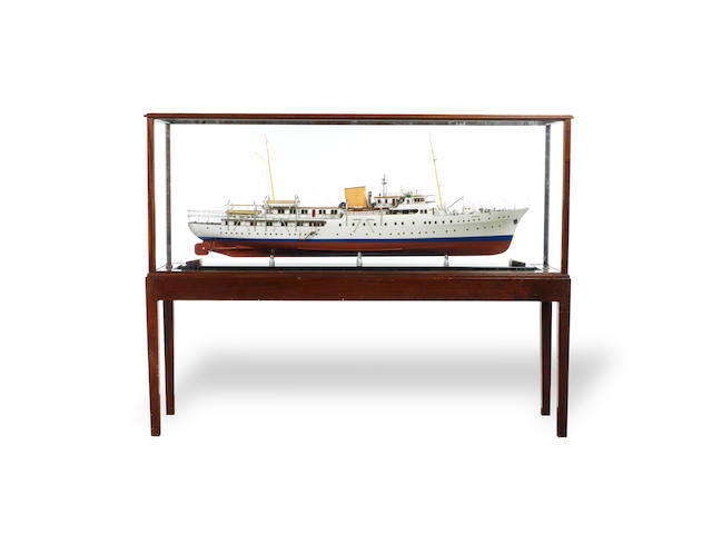 A fine shipbuilders model of K/S Norge, ex. SY Philante 1937, the Norwegian Royal Yacht 2