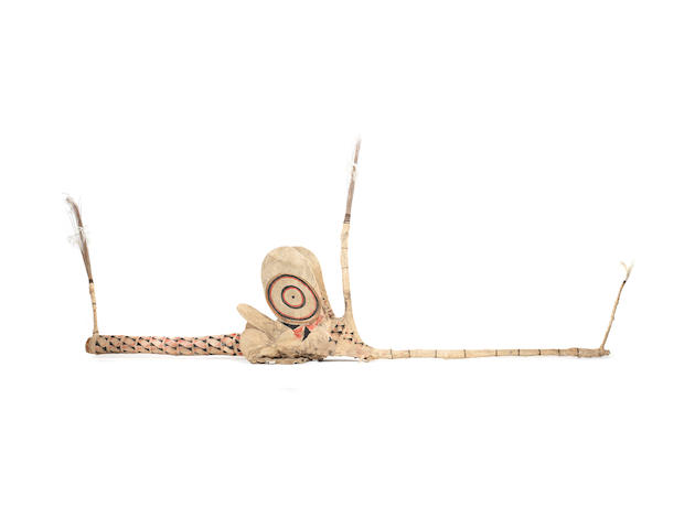 Another Baining barkcloth mask, vungvung, Gazelle Peninsular, New Britain. approx 360cm long