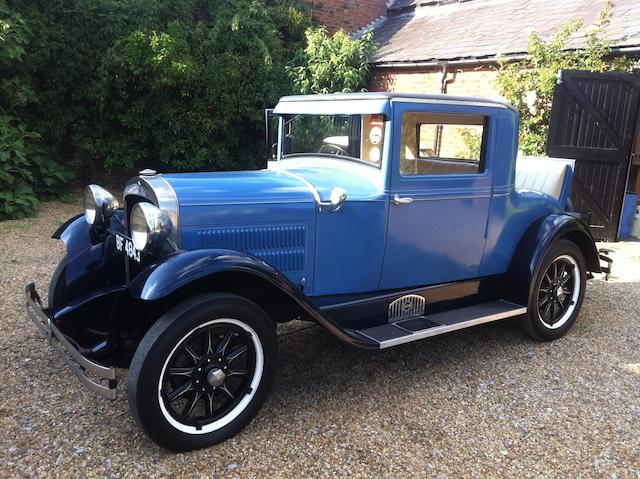 1929 Essex Super Six Doctor's Coupe  Chassis no. 961029 Engine no. 1220839