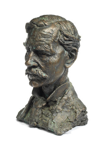 Sir Jacob Epstein, British (1880-1959): A bronze portrait bust of Sir James Ramsay MacDonald